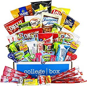 Student Favorite Care Package (55 Count) - Chips, Cookies, Candy Assortment Bundle Gift Pack and Variety Box - CollegeBox