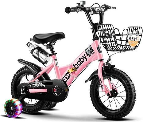 Bicicleta para Niños para Niños Y Niñas De 2 A 12 Años, Magna Gravel Blaster Boys BMX Street/Bicicleta con Ruedas De Entrenamiento Flash Y Freno De Montaña, 85% Ensamblado,Rosado,16inch: Amazon.es: Deportes y