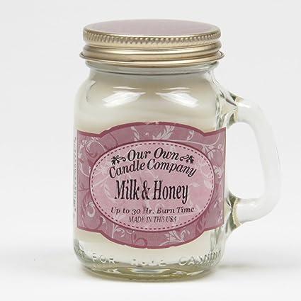 Mini leche y miel Mason Jar vela (30hr duración aprox)
