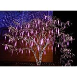 alkbo purple meteor shower rain lights waterproof string for wedding party christmas xmas decoration tree party garden xmas string light outdoor 8 tube - Purple Christmas Tree Lights