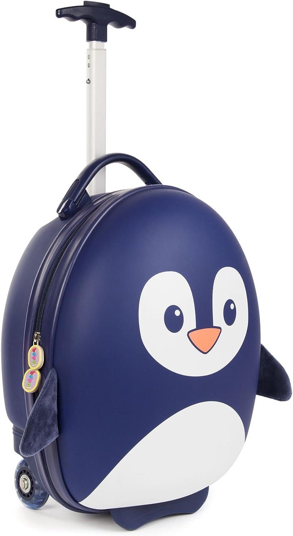 boppi Tiny Trekker Maleta Trolley Infantil Equipaje Cabina 2 Ruedas- 17 litros- Pingüino Azul