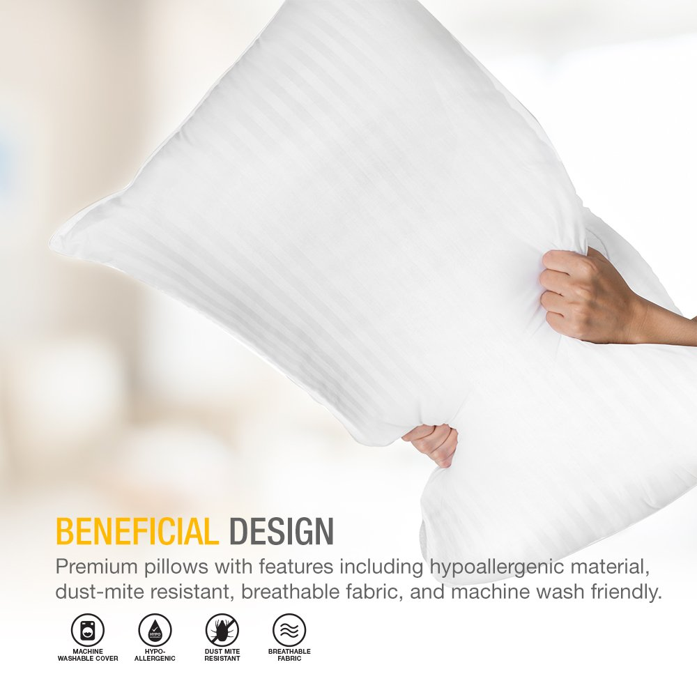 Pack of 2 DreamNorth PREMIUM Gel Pillow Loft Luxury Plush Gel Bed Pillow For Home Hotel Collection Good For Side // Back Sleeper Cotton Cover Dust Mite Resistant /& Hypoallergenic Standard Size