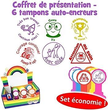 Juego de 6 sellos de profesor en francés – con ayuda, atención al ...
