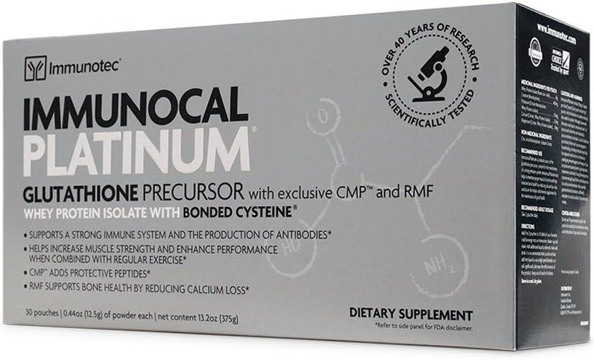 Immunocal Platinum Immunotec - 1 Caja, 30 Sobres