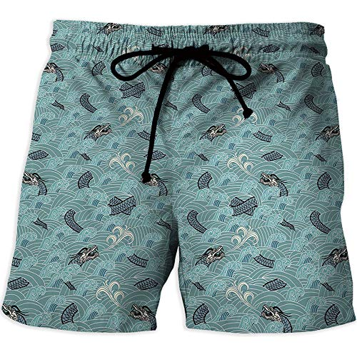MOOCOM Men's Watershorts,Lavender,Running Surfing Shorts with Lining,Old Fashioned -