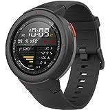 Amazfit Verge スマートウォッチ smart watch 通話可 11種運動モード/5日連続使用可/1.3インチAMOLEDスクリーン 心拍計 歩数計 IP68防水防塵 日本語アプリ Bluetooth接続 Twitter/WhatsApp/Line通知/GPSトラッキング/音楽/睡眠モニタリング ブラック(英語版)