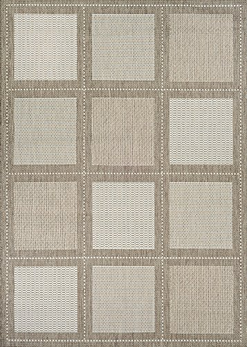 Couristan Recife Summit Natural - Couristan Recife Summit Indoor/Outdoor Area Rug Champagne/Taupe, 2' x 3'7