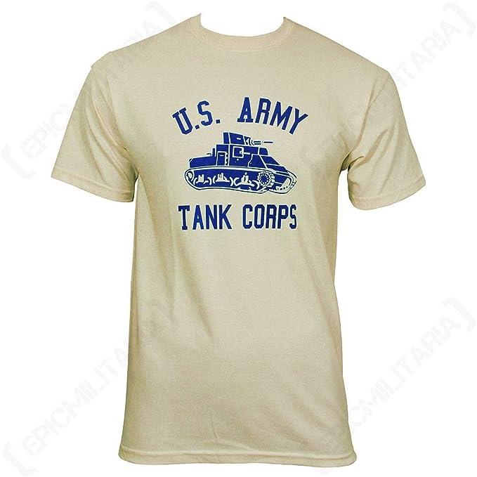 1940 de Estilo Nos Cuerpo de Tanque del ejército Camiseta Marfil Off White Small: Amazon.es: Ropa y accesorios