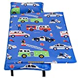 Wildkin Microfiber Nap Mat, Olive Kids by Children's Microfiber Nap Mat with Built in Blanket and Pillowcase, Pillow Insert Included, Microfiber, Children Ages 3-7 years – Heroes