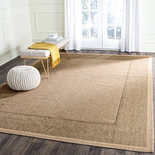 Safavieh Courtyard Collection CY7987-39A5 Natural and Gold Indoor/Outdoor Area Rug (6'7