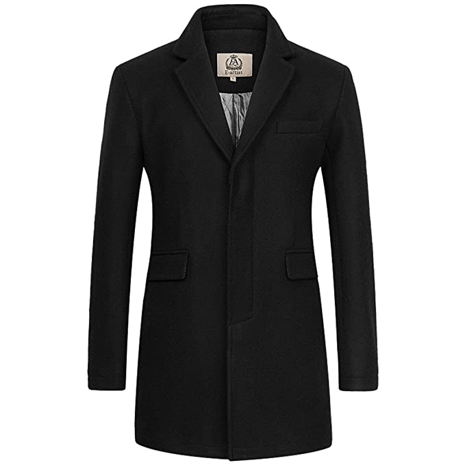 Overcoat Men s Artist At Wool Breasted Long Single Coat Amazon N32 E  UqOxTn4T a4771834383