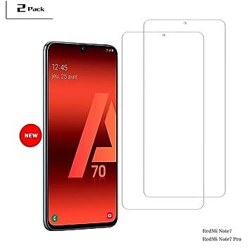 MOSIIKON- Protector Pantalla Samsung Galaxy A70, 9H Dureza: Amazon ...