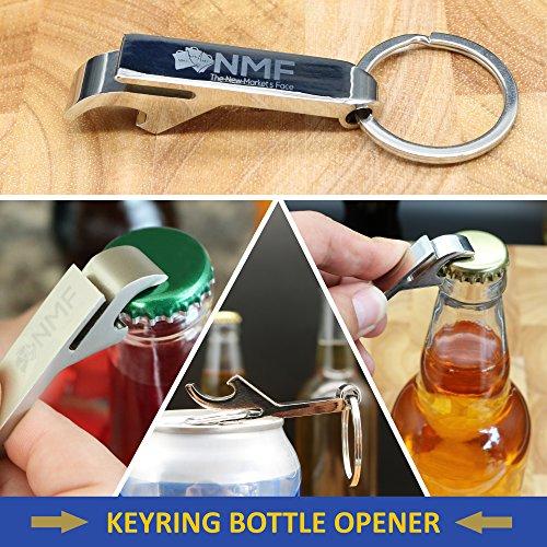 NMF 5 Pack - Lemon Zester & Cheese Grater set, Julienne & Vegetable Peeler, Manual Can Opener, Keyring Bottle Opener by NMF The New Market's Face (Image #6)