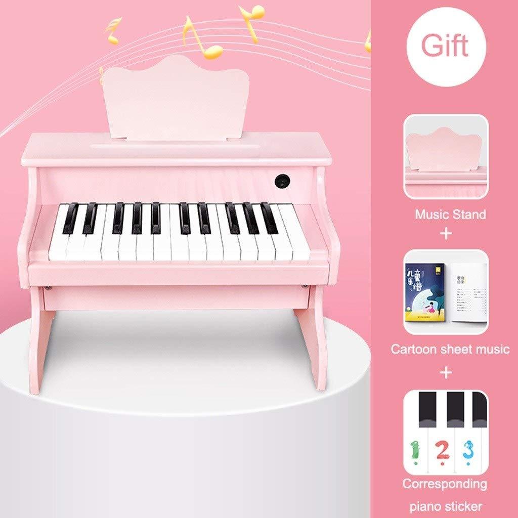 LIUFS-キーボード Size : 子供の木製の小さなピアノのおもちゃ電子ピアノの初心者3-6歳の男の子と女の子の贈り物 (Color B07R6BP4CW : ピンク, Size : B) B07R6BP4CW, カスヤマチ:6a8a1a93 --- krianta.ru