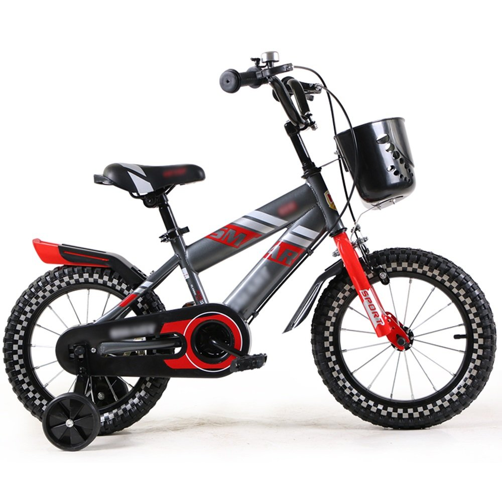 HAIZHEN マウンテンバイク 子供用自転車ベビーキャリッジ12/14/16インチマウンテンバイク高炭素鋼材青赤安全で実用的 新生児 B07C6T7Q5S 12インチ|赤 赤 12インチ