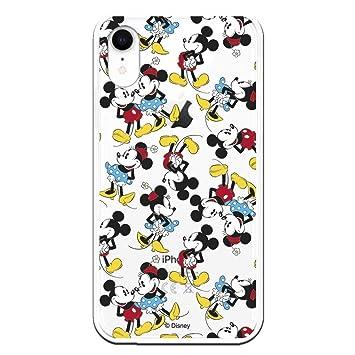 Carcasa Oficial de Disney Mickey y Minnie Patrón Clear para iPhone XR - La Casa de Las Carcasas