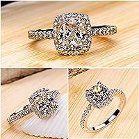 Nattypat Gorgeous 925 Silver Princess Cut White Sapphire Wedding Band Ring Women Jewelry (6)
