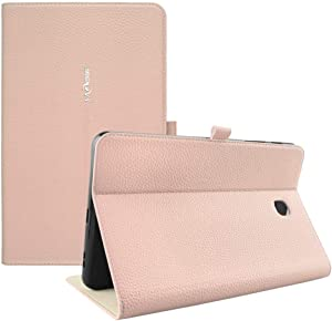 Cherrry Folio Case for Samsung Galaxy Tab A 8.0 2018 (SM-T387 Verizon/Sprint/T-Mobile),PU Leather Slim Folio Wallet Stand Cover with Auto Sleep/Wake for Samsung Galaxy Tab A 8.0 T387 2018(Rose Gold)