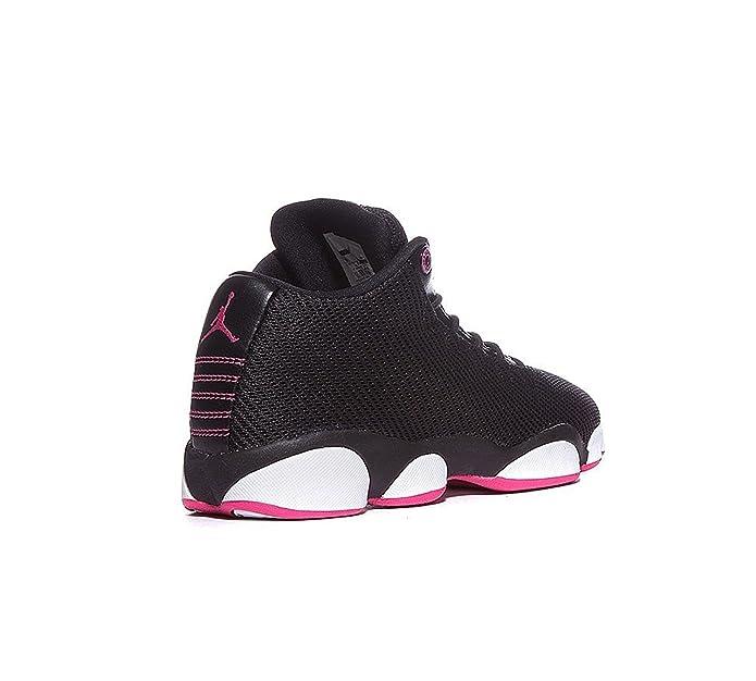 Amazon.com | Jordans Girls Jordan Horizon Low Walking Shoes Black/Vivid Pink-White 8 | Basketball