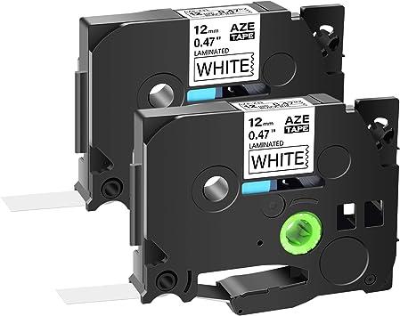 "Black Print on White Laminated Label Tape TZ231 TZe231 1//2/"" for Brother PT-1120"