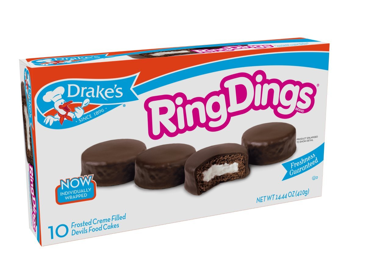 Drake's Ring Dings Cakes 13.5 oz, 10 Count by Drake's