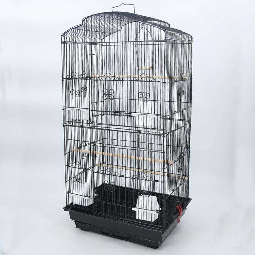AIPZDJ Jaulas Pájaros con Accesorios Grande Pájaro Jaula Metal Pájaro Casa Planchar Loro Jaula Metal Peonía Cría Jaula Nido Cama Planchar Paloma Suministros