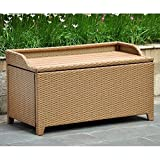 International Caravan Barcelona Faux Wood Top Trunk/Table in Honey