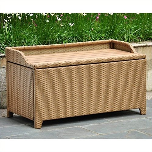 International Caravan Barcelona Faux Wood Top Trunk/Table in Honey (Outdoor Glider Chair Plans)