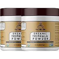 Naturevibe Botanicals USDA Organic Triphala Powder (16oz) (2 Pack of 8oz Each)- Ayurvedic Formula for Detoxification & Rejuvenation - 100% Pure & Natural