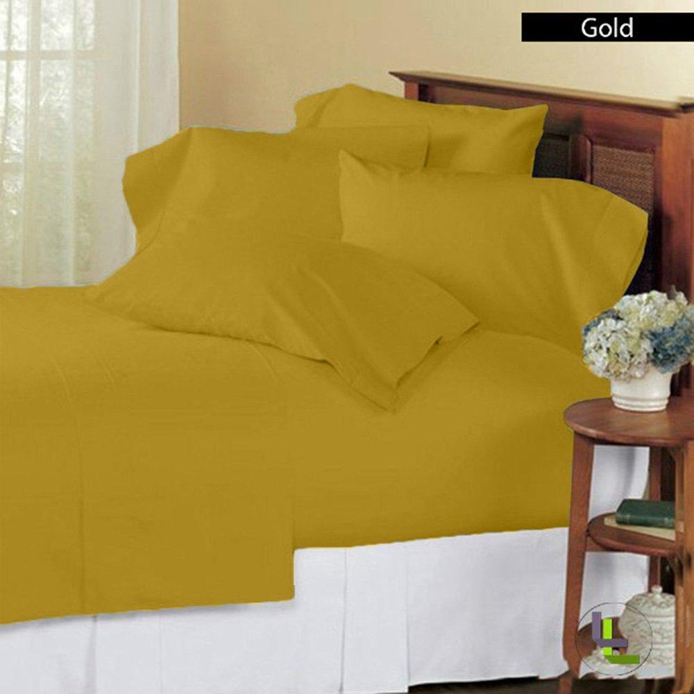 RoyalLinens EU Double 1000TC 100% Egyptian Cotton Burgundy Solid Elegant Finish 6PCs Sheet Set Solid(Pocket Size: 23 inches)
