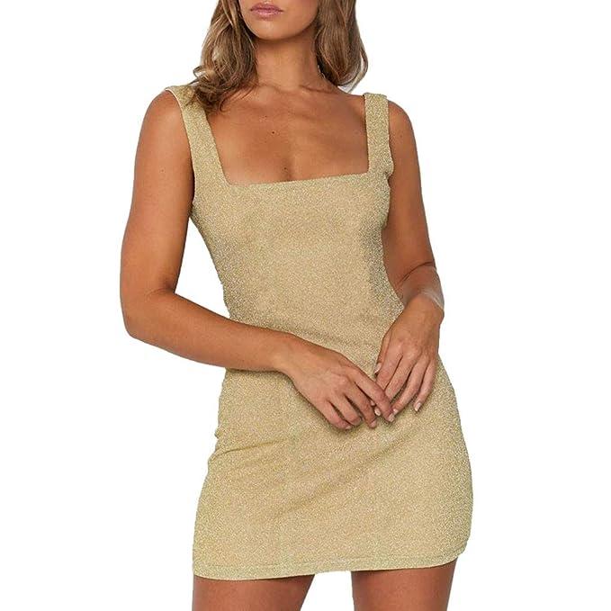 5b11ead436f76 Amlaiworld Bar Mini Abendkleider Frauen Dehnbar Kleider Stilvoll Funkelnde  Wickelkleid Reizend Party Verein Kleid