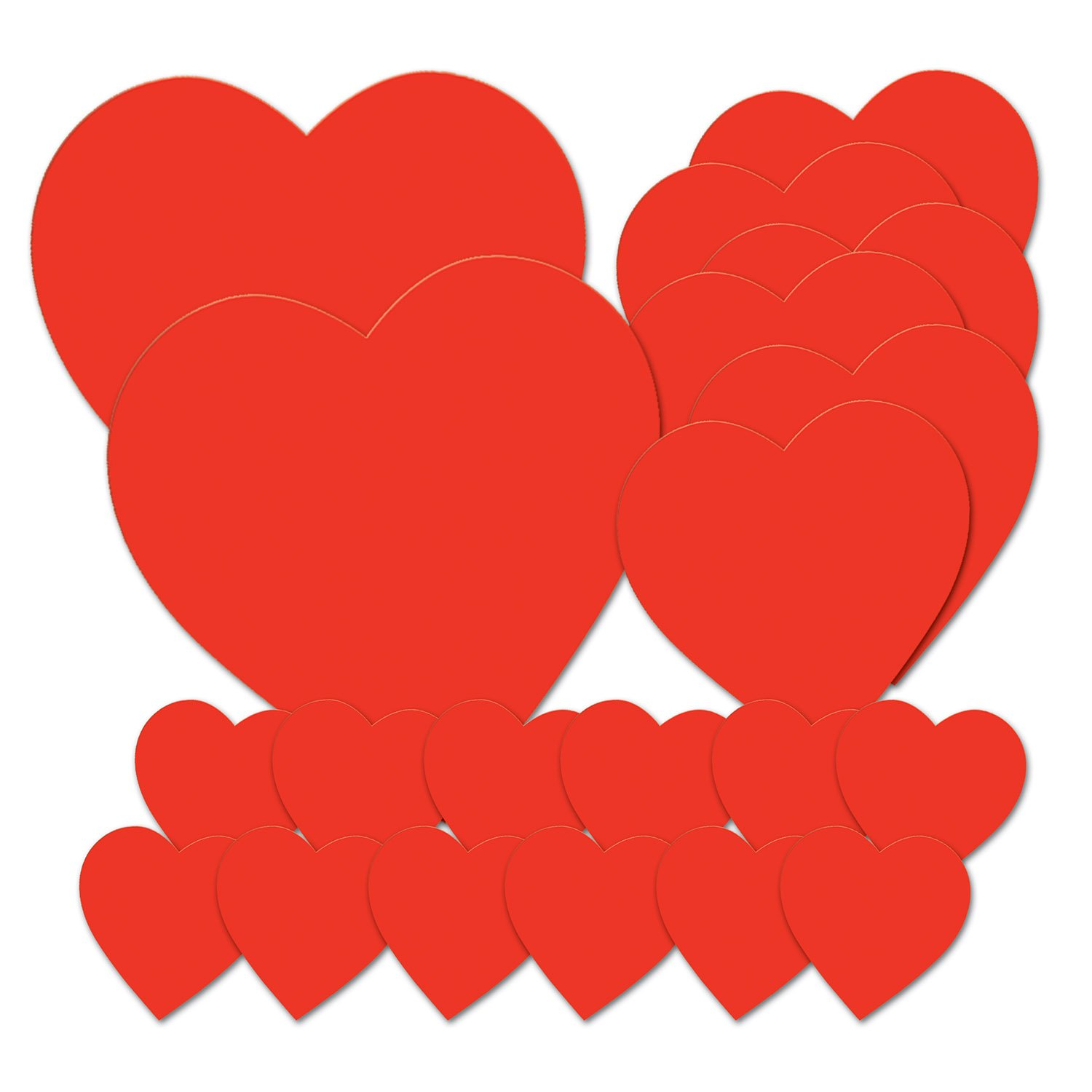 Beistle 77867 Printed Heart Cutouts, Red, Pack of 20 by Beistle