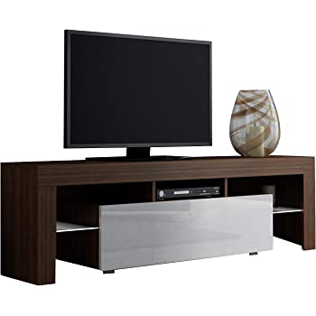 Concept muebles tv stand milano 130 modern for Muebles tv amazon