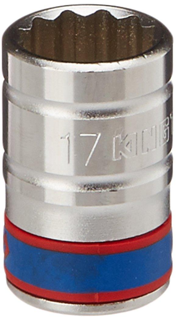 KING TONY 433017M Douille Mé trique 1/2' Standard, 17 mm 12 Pans