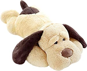 ERDAO Giant Dog Plush Pillow,Soft Big Dogs Stuffed Animal Toys Doll Large Stuffed Puppy Gifts for Girls Kids, 39.3 inches