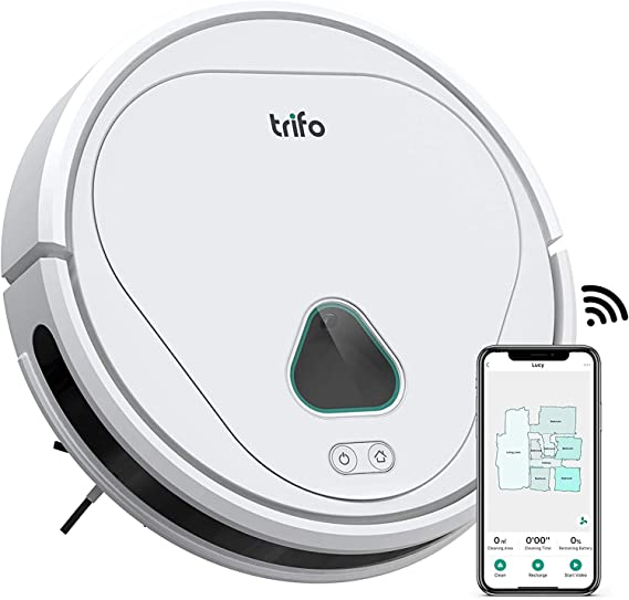 TRIFO Potente Robot-Aspirador Inalámbrico 3000Pa de Potencia de succión con Cámara de Vigilancia, Control Manual Desde la Aplicación, Carga Automática y Altavoz de Dos Vías - Blanco: Amazon.es: Hogar