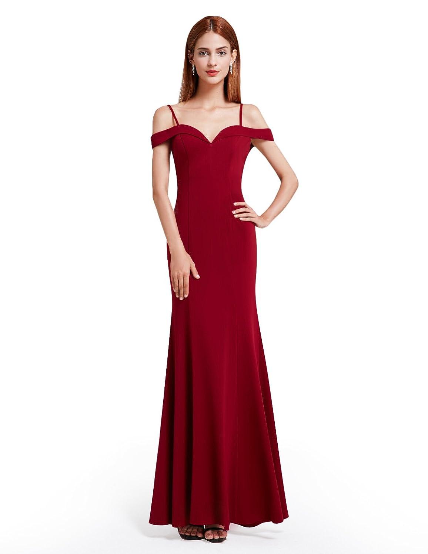 Royal blue chiffon one shoulder bridesmaid dresses with side split - Ever Pretty Women S Floor Length Off Shoulder Sweetheart Neckline Evening Dress 07017
