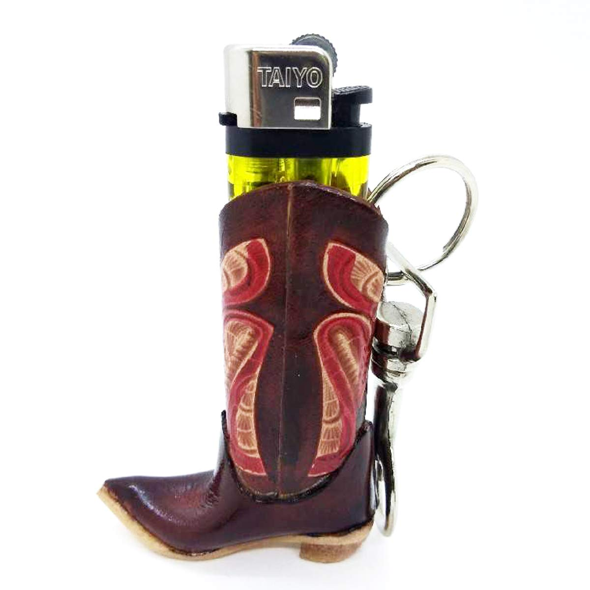 Leather Cowboy Boots Key Chain Shoes Idea Handcraft Keyring Fire Lighter Holders