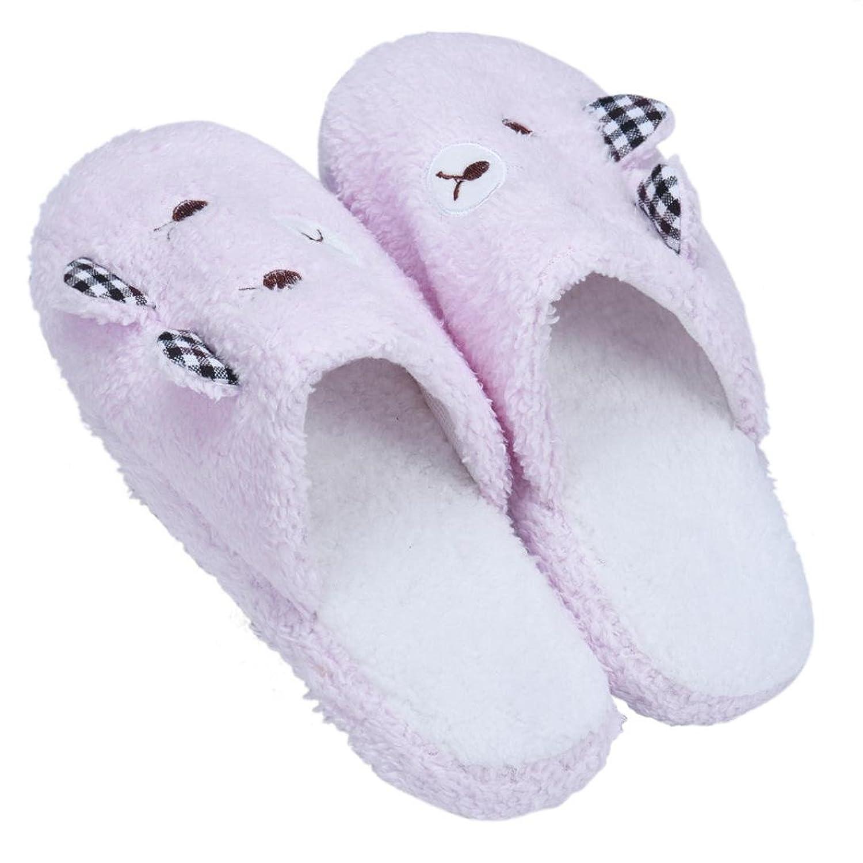 Amiley Women Plush House Floor Soft Bear Scuffs Slipper Cotton-padded Shoes
