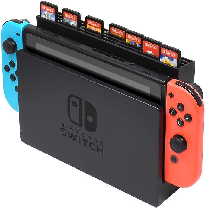 Caja de Almacenamiento para Tarjetas de Juego para Nintendo Switch Dock, Caja de Almacenamiento con 28 Ranuras para Tarjetas de Juego para Nintendo Switch Game Card: Amazon.es: Electrónica