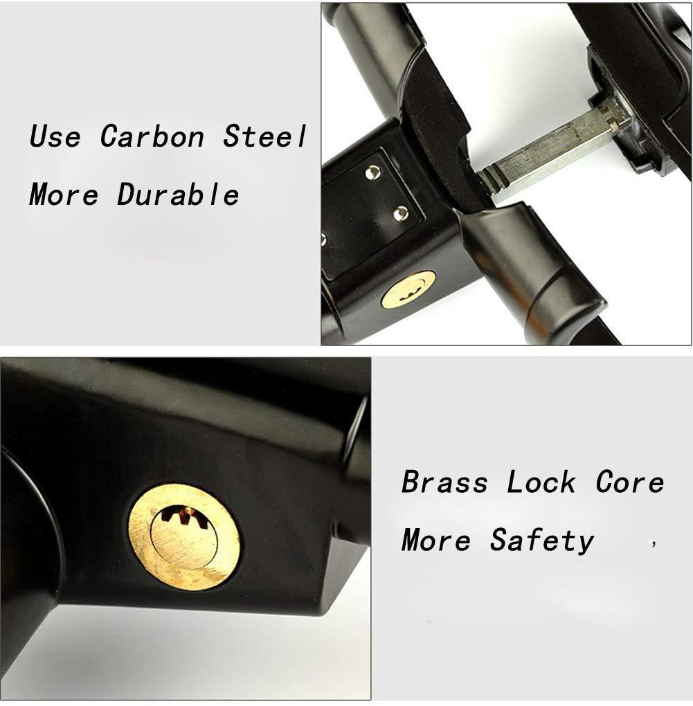 MEETOZ Universal Security Anti Theft Retractable Heavy Duty Car Steering Wheel Lock with 2 Keys Yellow