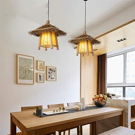 Lampadari Per Case Di Montagna.Yameijia Bambu Tessitura Gabbia Per Uccelli Nostalgico Ristorante