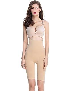 0723b30b47da9 Shymay Women s Long Leg Shaper Seamless Tummy Control Hi-Waist Thigh Slimmer