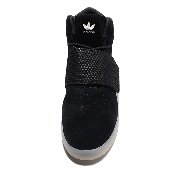 new concept d5745 3fc3c adidas Originals Tubular Invader Sangle Pour Homme Hi Top Baskets Sneakers  Chaussures - Blanc - Red