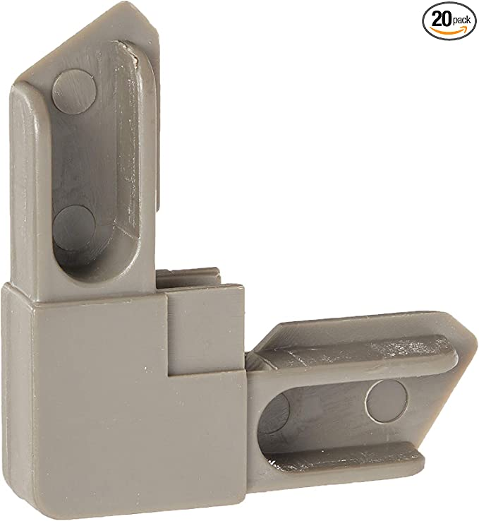 Prime-Line Products Pack of 100 Home Improvement Prime-Line Products PL 14664 Window Screen Plunger Latch Nylon with 1//4-5//16 Frame,