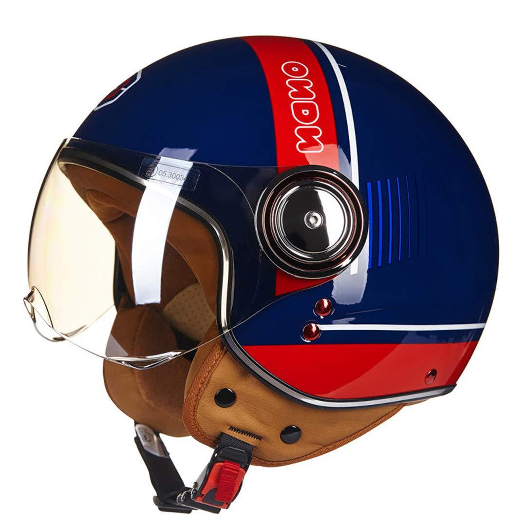 Amazon Com Motorcycle Helmet Men S Vintage Scooter Open Face Helmet