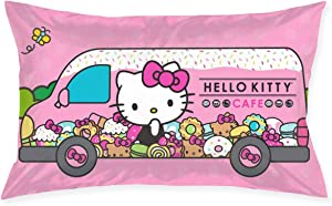 WOMFUI Hello Kitty Pattern Throw Pillow Covers Polyester Pillowcases for Home Decor