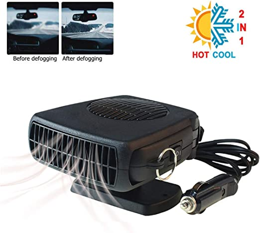 Upgrade Car Heater Red 2 in 1 Portable Fast Heating Car Heater with Heating /& Cooling Function Defroster Defogger 12V 150W Automobile Windscreen De-Icer
