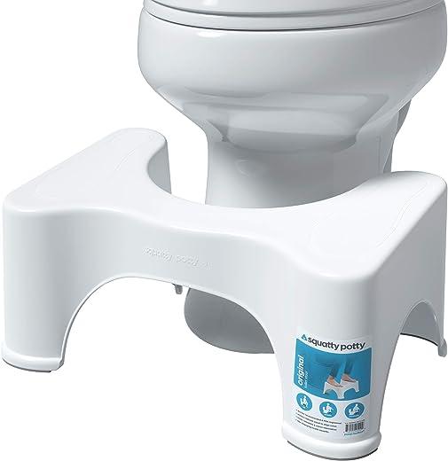 Squatty Potty The Original Bathroom Toilet Stool, 9 inch Height, White