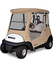 Classic Accesories Fairway - Cobertor de Lujo para Carrito de Golf Club Car (4 Lados, para 2 Personas, Color café Claro)